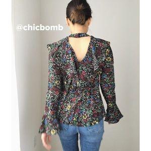 NEW Chiara floral ruffle top